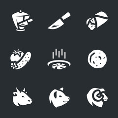 Vector Set of Shawarma Icons.