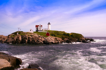 The Cape Neddick (Nubble) lighthouse