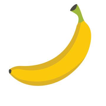 Banana design juicy fresh fruit icon vector template. Raw banana. Eco bio health food