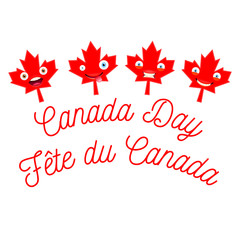 Happy Canada Day Vector Template
