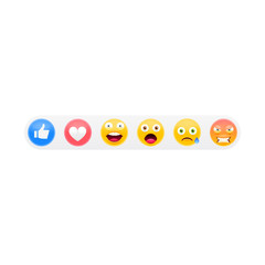 3D Emoji Set Like Social Icons
