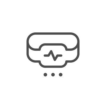 Fitness tracker line icon