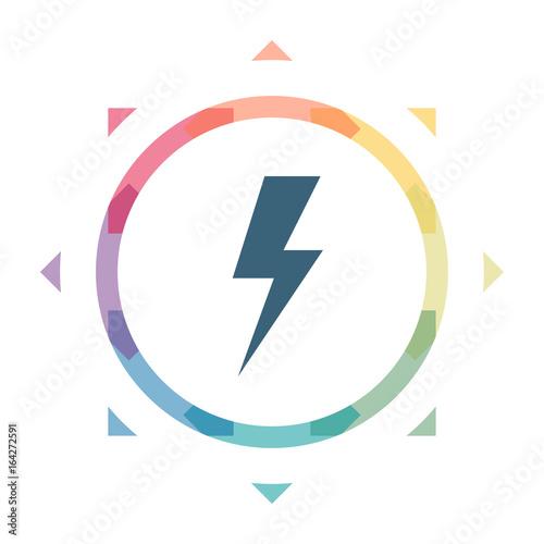buntes Symbol - Blitz\