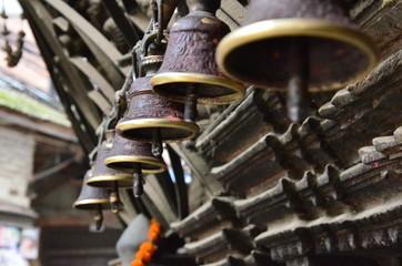 Zeremonielle Glocken in Kathmandu