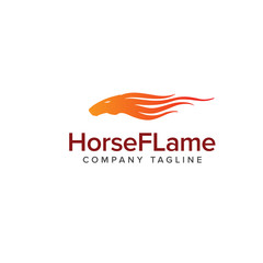 horse flame logo. Animals logo design concept template