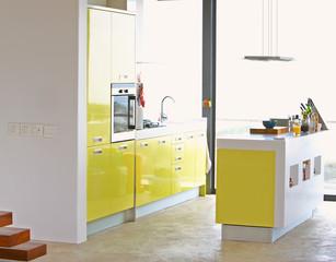 Contemporary Kitchen Design Interior. Luxury kitchen