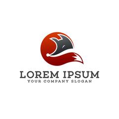 wolf logo design concept template