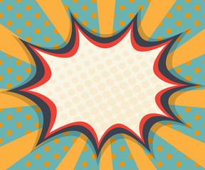 abstract blank speech bubble comic book, pop art
