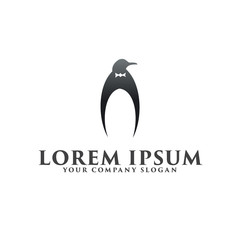 luxury Penguin logo design concept template