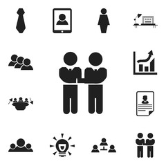 Set Of 12 Editable Business Icons. Includes Symbols Such As Statistics, Job Woman, Cv And More. Can Be Used For Web, Mobile, UI And Infographic Design.