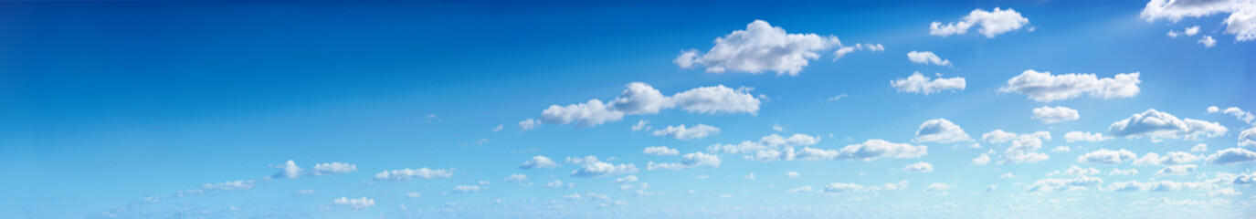 Photo sur cadre textile Ciel Panorama of the blue sky with clouds