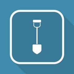App Button mit Schatten - Schaufel