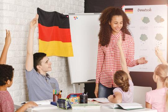 Teaching kids german