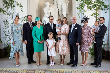 The Royal family gather in connection with Crown Princess Victoria's 40th birthday at the reception of Logarden at The Royal Palace in Stockholm