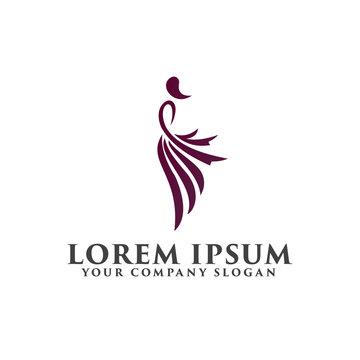 fashion people logo design concept template