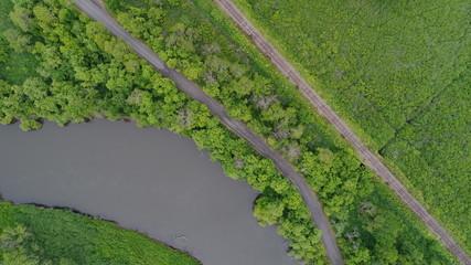北海道 釧路湿原 湿原 カヌー 夏 8月 7月 空撮 蛇行 動物 冒険 ツアー 鹿 鶴 川 キャンプ トレッキング  道 線路 国立公園 大自然