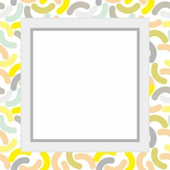 Simple frame with colorful texture background