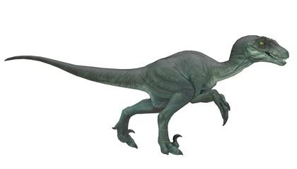 velociraptor running pose 3d rendering