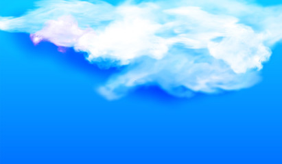 White cloud against the blue sky. Vector illustration