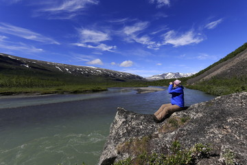 Spanning after Moose in Sarek National Park