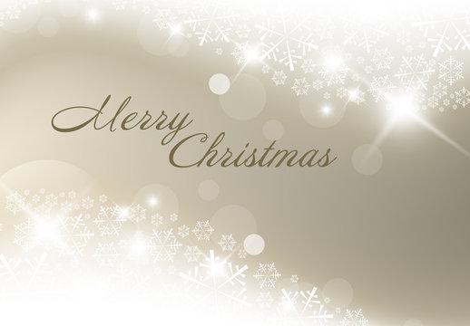 Metallic Snowflake Christmas Banner 1