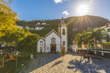 Wall Mural - Igreja Matriz de Sao Bento, Ribeira Brava village, Madeira island, Portugal.
