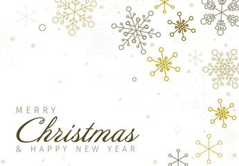 Metallic Snowflake Christmas Banner 3