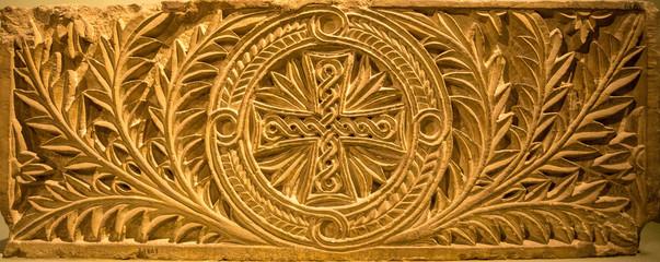 Egyptian Christian art in church wall in egypt
