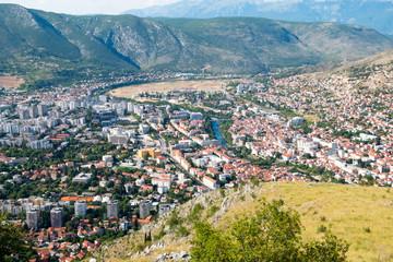 Panoramic view over Mostar, Bosnia and Herzegovina