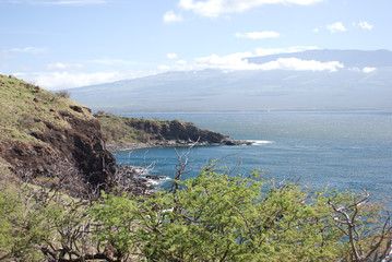 Beautiful views of Maui North coast, taken from famous winding Road to Hana. Maui, Hawaii