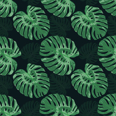 Exotic tropical seamless pattern. Vector tileable illustration