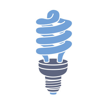 Energy saving lamp icon.