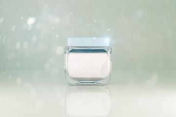 Empty cream jar