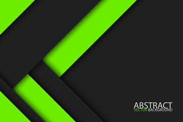 Black and green modern material design, vector abstract widescreen background