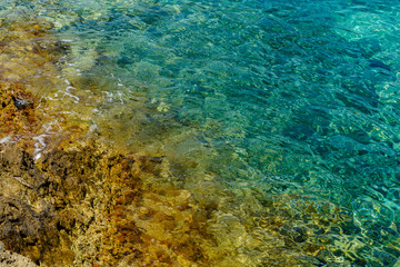 Blue transparent water of the Adriatic Sea