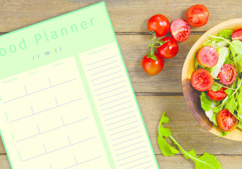 Food Planner and Shopping List Layout 1