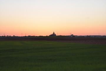 Autocollant pour porte Cracovie Village at sunset