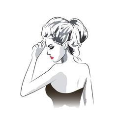 Beautiful woman in dress portrait