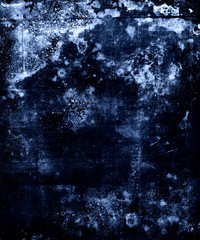 Beautiful dark blue abstract watercolor grunge texture background.