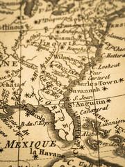 古地図 アメリカ・フロリダ半島