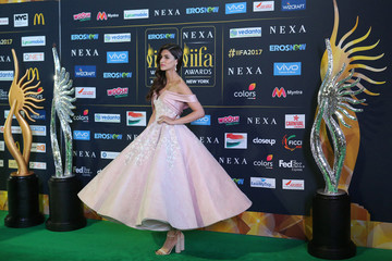 Actress Kirti Sanon poses for a picture on the Green Carpet at the International Indian Film Academy Rocks show at MetLife Stadium in East Rutherford