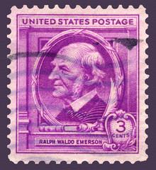 Poet Ralph Waldo Emerson Postage Stamp