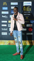 Cricket player Dwayne Bravo poses for a picture on the Green Carpet at the International Indian Film Academy Rocks show at MetLife Stadium in East Rutherford