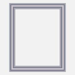 Vector modern silver frame
