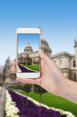 Taking photo of St Paul's Cathedral in London, United Kingdom