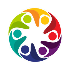 design logo / icon with the concept of integrated / partnership, suitable for a community icon, social group, or company.