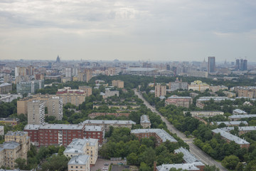 aerial view moscow russia