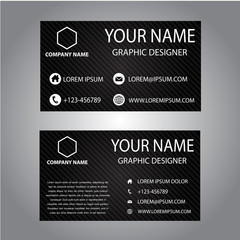 Black abstract Business card