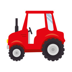 farm tractor icon over white background colorful design vector illustration