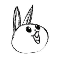 kawaii funny rabbit animal cartoon image